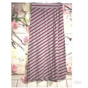 3X Maxi Skirt Grey Fuschia 22W 24W Modest